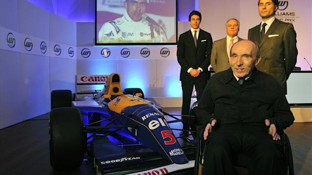 Williams founder Frank Williams poses with non-executive Director Toto Wolff