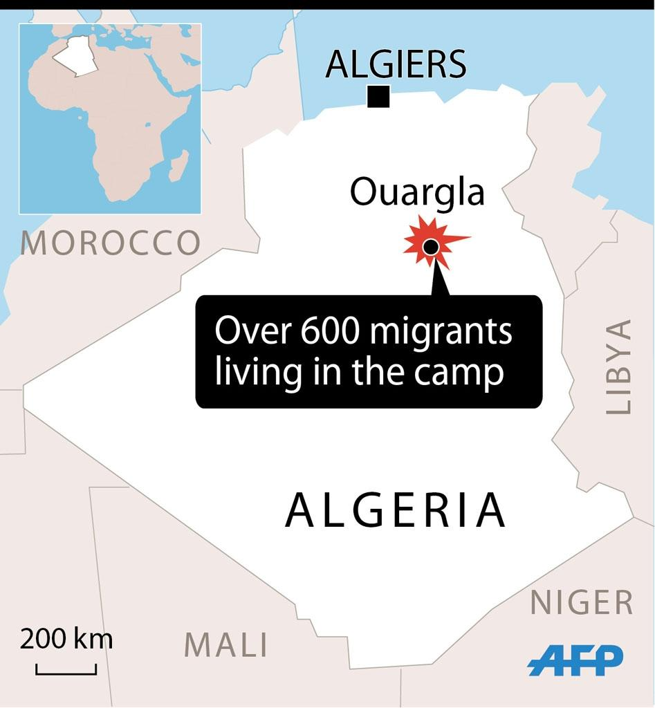 Fire kills 18 migrants at Algeria camp