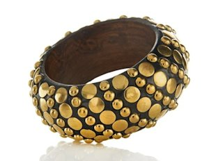Bajalia Studded Wood Bangle