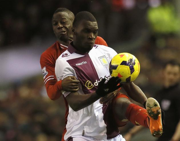 English premier league soccer match agains at anfield in liverpool