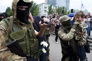 """A new army recruit of the self-proclaimed """"Donetsk…"""