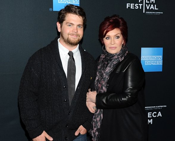 Jack Osbourne and Sharon Osbourne arrive at the 2011 Tribeca Film Festival LA Reception at The W Hollywood in Hollywood, Calif. on March 21, 2011  -- Getty Images
