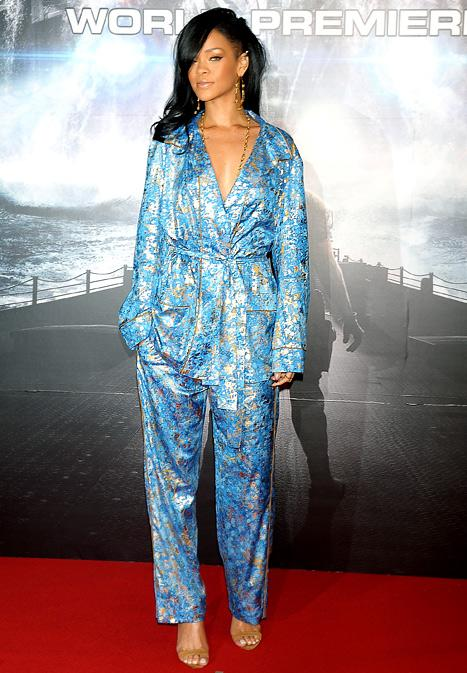 Rihanna Hits Red Carpet Premiere in Pajamas!