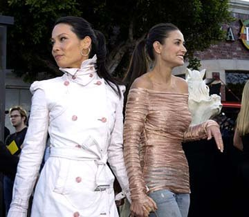 Premiere: Lucy Liu and Demi Moore of Charlie's Angels: Full Throttle at the Hollywood premiere of Warner Brothers' The Matrix: Reloaded - 5/7/2003