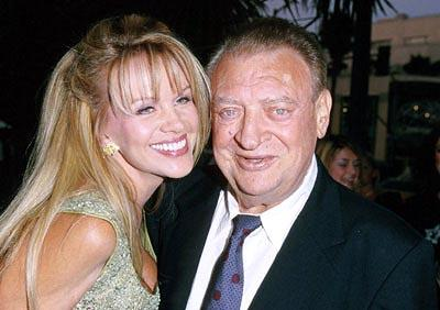 Rodney Dangerfield and his wife at the Santa Monica premiere of Artisan's My 5 Wives