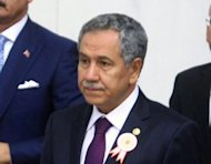 "Turkey's Vice Prime Minister Bulent Arinc, pictured in 2011, said Syria's shooting of a Turkish warplane was a ""hostile act of the highest order"" ahead of NATO emergency talks"