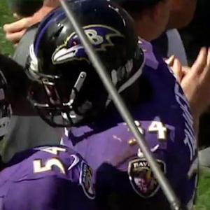 Baltimore Ravens running back Lorenzo Taliaferro 1-yard touchdown