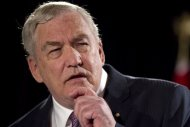 Conrad Black speaks in Toronto on June 22, 2012. A three-justice panel of the Federal Court of Appeal has denied Black's application to personally address a council that will recommend whether he should have his Order of Canada removed.THE CANADIAN PRESS/Chris Young