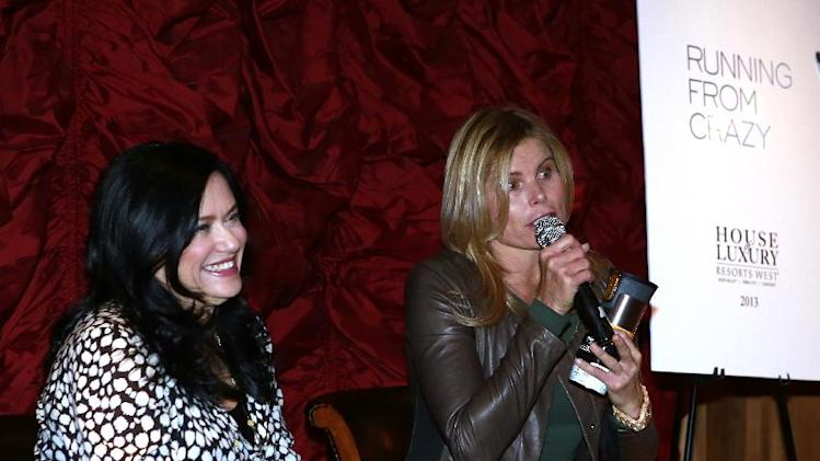 "(l-r) Barbara Kopple, Mariel Hemingway from the film ""Running from Crazy"" during a question and answer session at Resorts West House of Luxury, on Monday, Jan 21. 2013 in Park City, Utah. (Photo by Benjamin Cohen/Invision for Rand Luxury/AP Images)"
