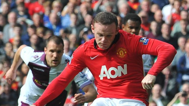 Wayne Rooney Goal Against Aston Villa Manchester United s Wayne Rooney scores his team s second goal from a