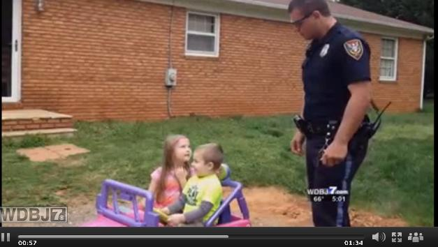 "Home video of Virginia cop ""pulling over"" his kids goes viral"