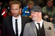 "Belgian actor Matthias Schoenaerts (left) and French director Jacques Audiard arrive ahead of the BFI film festival showing of ""Rust and Bone"" at the Odeon in Leicester Square in London, on October 13. The moving romance about a street fighter and a killer-whale trainer, has been named best picture at the London Film Festival"