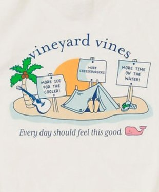 A Vineyard Vines Occupy t-shirt sides with the 1%