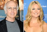 Larry David, Kate Hudson | Photo Credits: Allen Berezovsky/Getty Images; Jason Merritt/Getty Images