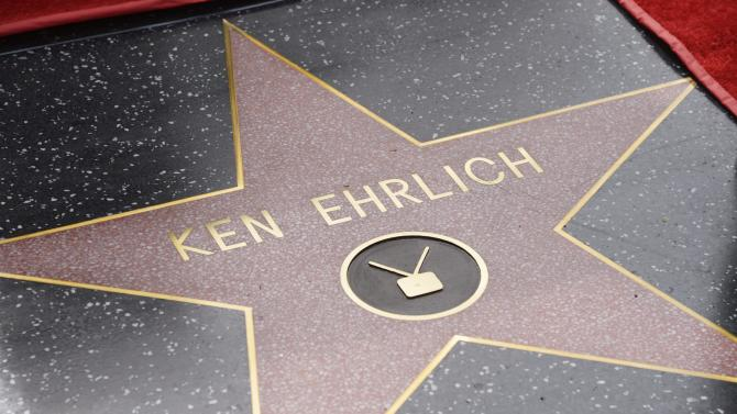 "Ehrlich receives a star on the ""Hollywood Walk of Fame"" in Los Angeles"