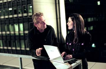 Michael Douglas and Robin Tunney in Warner Bros. The In-Laws