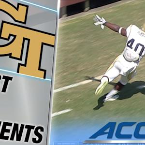 Georgia Tech's Paul Davis Pick-6 to the House | ACC Must See Moment
