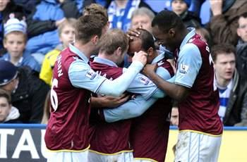 Reading 1-2 Aston Villa: Benteke and Agbonlahor lift Lambert's men out of bottom three