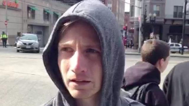 Witness describes explosion at Boston Marathon