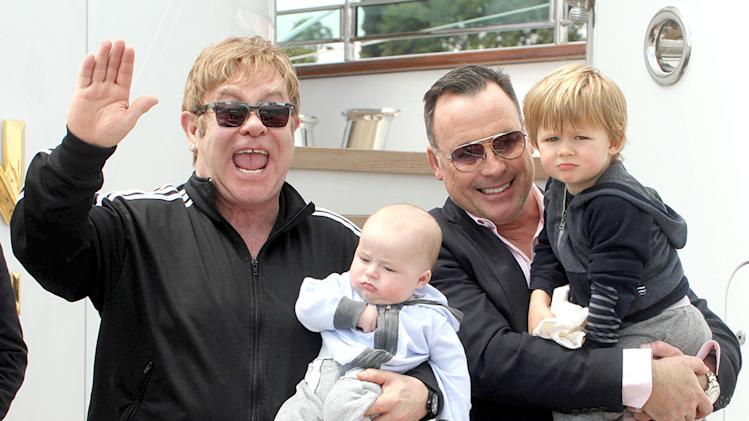 Elton John and David Furnish in Venice, Italy