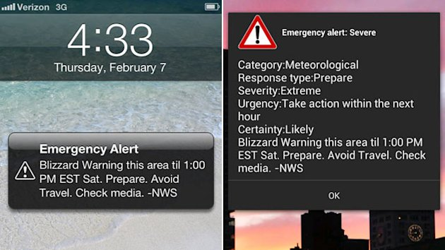 Wireless Blizzard Alerts Hit Smartphones (ABC News)