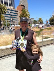 Finish line fun on Father's Day