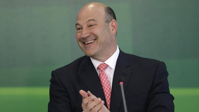 Gary Cohn, president and COO of Goldman Sachs, speaks during a news conference, after a meeting with Brazil's President Dilma Rousseff in Brasilia