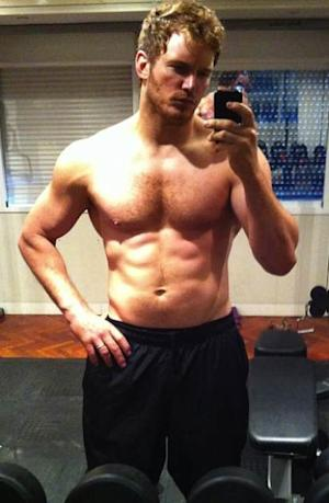 Chris Pratt shows off his rock hard body as he trains for Marvel's 'Guardians of the Galaxy' on July 6, 2013 -- Instagram