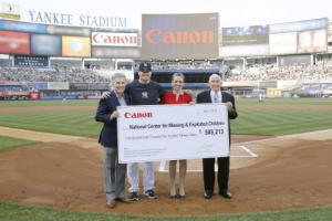 Canon U.S.A. Stands in Support of the National Center for Missing & Exploited Children at Yankee Stadium