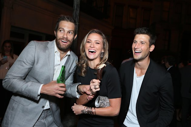 Geoff Stults, Shantel VanSanten and Parker Young at The Twentieth Century Fox Television Distribution's 2013 LA Screenings Lot Party at Twentieth Century Fox Studio Lot on Thursday May 23, 2013  in Lo