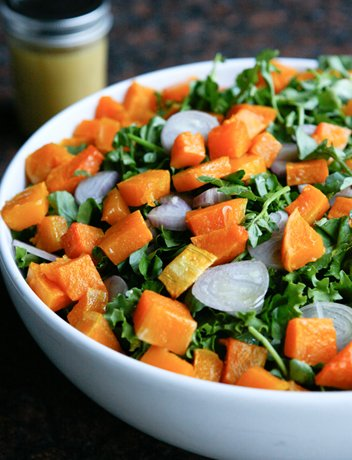 Butternut Squash Salad with Escarole