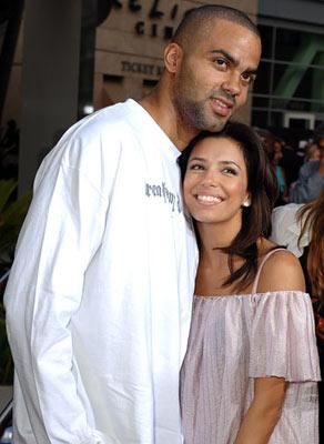Tony Parker and Eva Longoria at the Hollywood premiere of Paramount Classics' Hustle & Flow