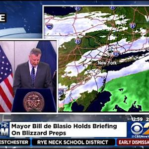 Mayor Bill De Blasio Gives New York City Storm Update