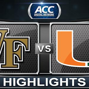 Wake Forest vs Miami | 2014 ACC Basketball Highlights