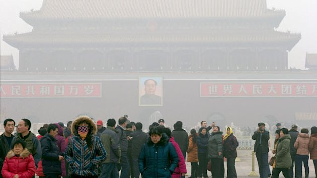 China Smog Prompts Sale of Canned Air (ABC News)