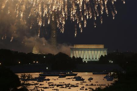 Independence Day fireworks light the sky over Washington