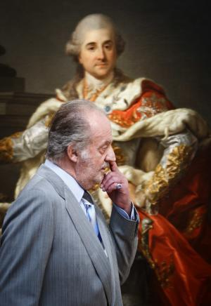"""Spain's King Juan Carlos is seen during a visit to an art exhibition with Poland's President Bronislaw Komorowski, not seen, at the Royal Palace in Madrid, Wednesday June 1, 2011. Spain's King Juan Carlos has shown that he has a sarcastic side, berating reporters Tuesday who queried him about his health and saying he feels """"terrible, terrible, seeing that you like killing me.""""The palace earlier announced that Juan Carlos will have corrective knee surgery. The monarch had a benign tumor removed from his right lung last year.  (AP Photo/Daniel Ochoa de Olza)"""