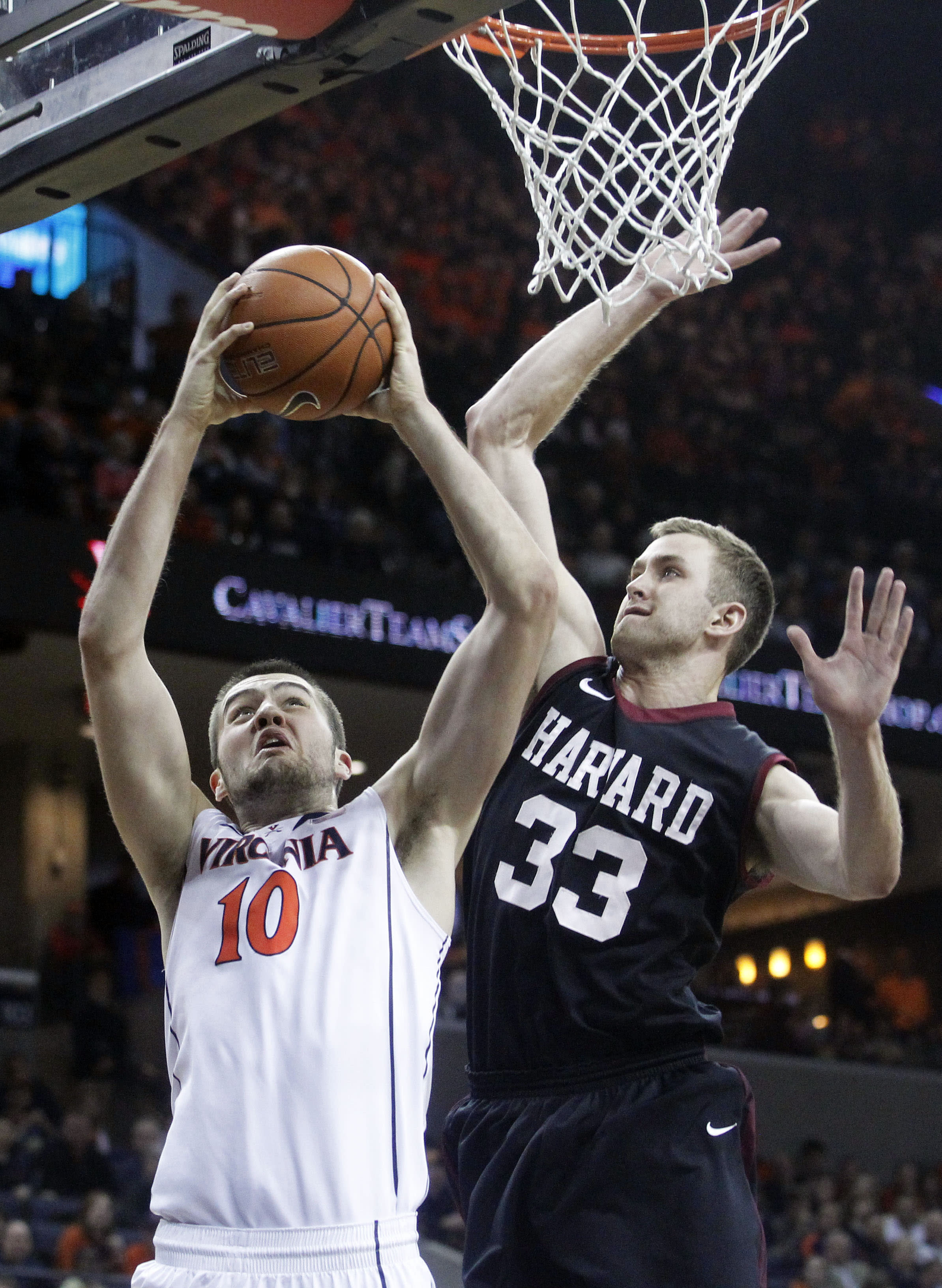 No. 6 Virginia slams Harvard 76-27