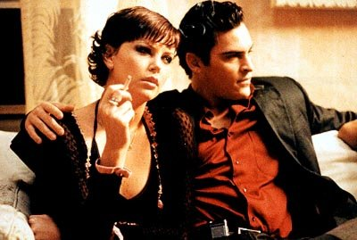 Charlize Theron and Joaquin Phoenix in Miramax's The Yards