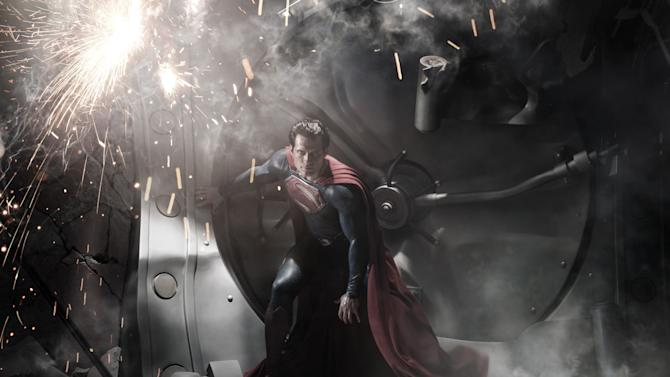 "FILE - In this image released by Warner Bros. Pictures, Henry Cavill is shown as Superman in a scene from the film, ""Man of Steel."" The film also stars Amy Adams, Russell Crowe, Diane Lane, Kevin Costner, Michael Shannon, Laurence Fishburne, Julia Ormond, Christopher Meloni and Antje Traue. (AP Photo/Warner Bros. Pictures/Legendary Pictures, Clay Enos, File)"