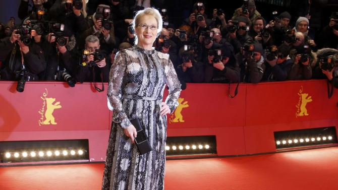 Actress and President of the international jury Streep arrives on the red carpet for screening at opening gala of the 66th Berlinale International Film Festival in Berlin