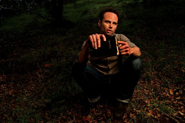"Walton Goggins as Boyd Crowder in ""Justified."""