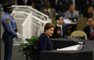 Brazil's President Dilma Rousseff addresses the 68th United Nations General Assembly at U.N. headquarters in New York