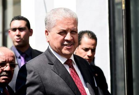 Algeria's PM Sellal arrives to take part in an anti-extremism march, in Tunis