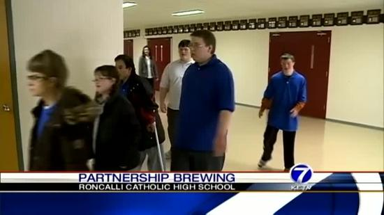 Students brewing friendship, profits for special needs school