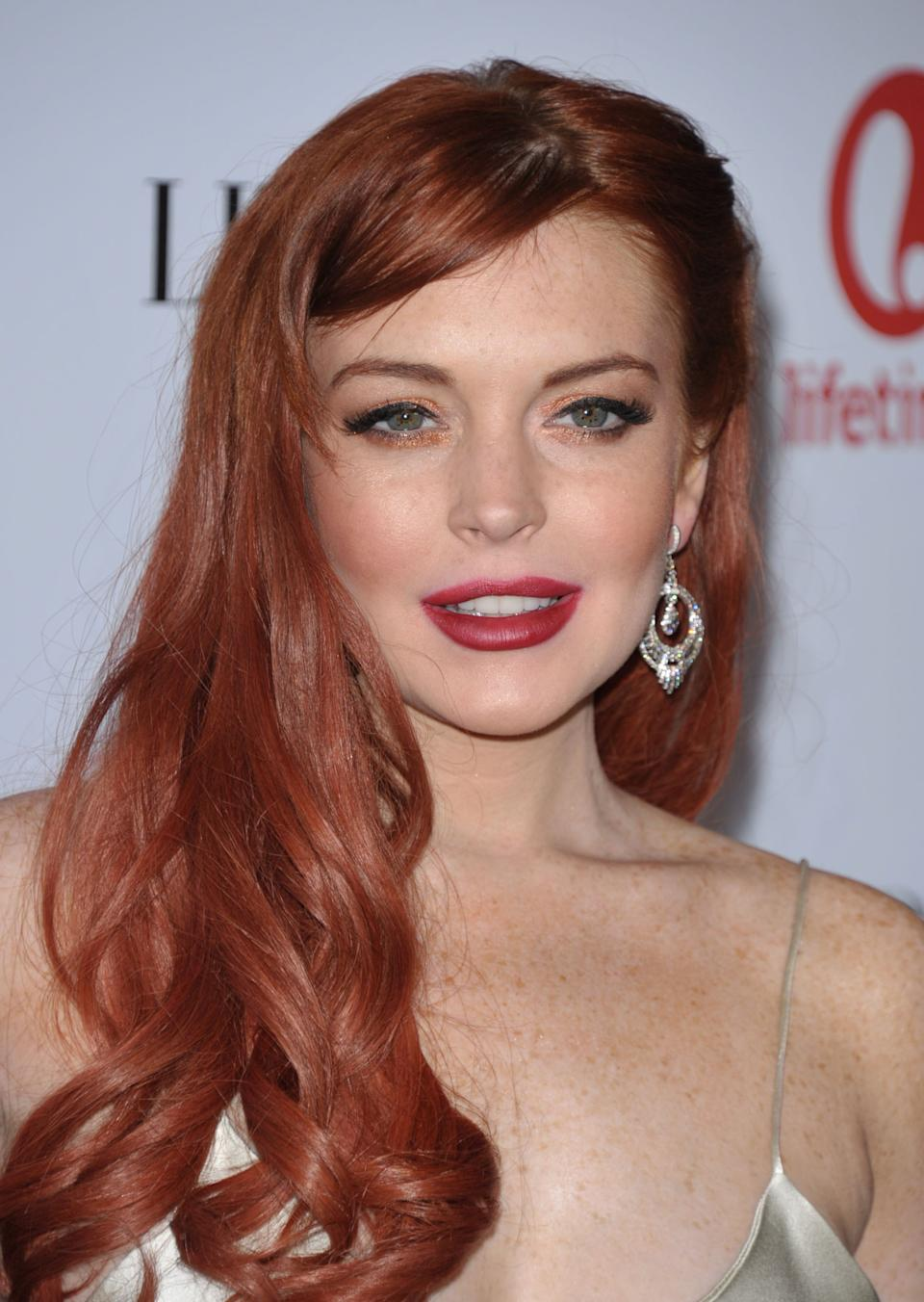 "Actress Lindsay Lohan attends a dinner celebrating the premiere of ""Liz & Dick"" at the Beverly Hills Hotel on Tuesday, Nov. 20, 2012, in Beverly Hills, Calif. (Photo by John Shearer/Invision/AP)"