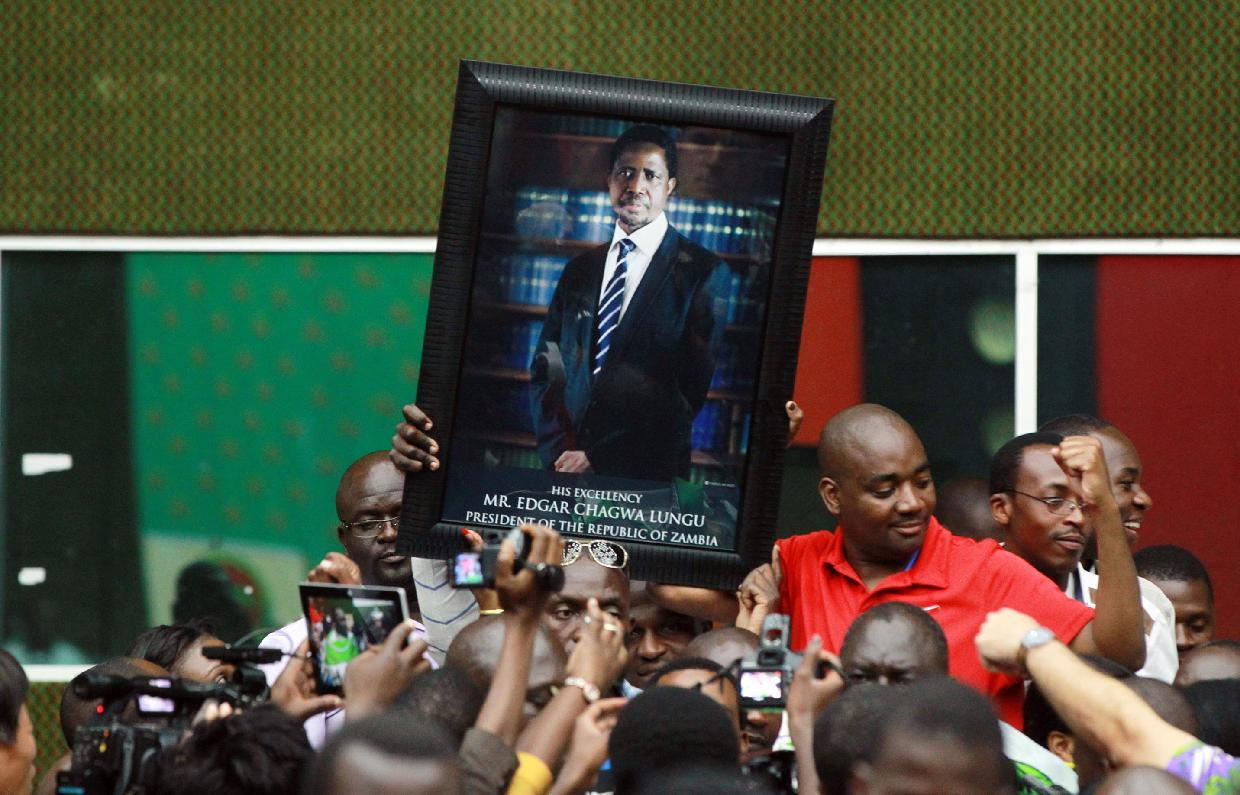 Zambia's new president Lungu pledges unity after tight vote