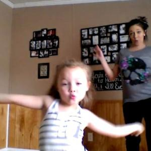Pregnant Mom and 6-Year-Old Daughter Show Off Impressive Dance Moves