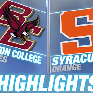 Boston College vs Syracuse | 2014-15 ACC Men's Basketball Highlights