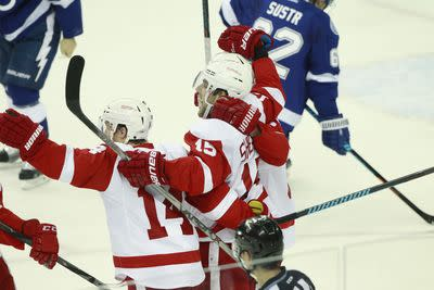 NHL playoffs 2015: Red Wings win in Tampa, Islanders beat Capitals to force Game 7